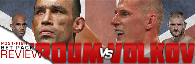 UFN 127: WERDUM VS VOLKOV- BET PACK REVIEW