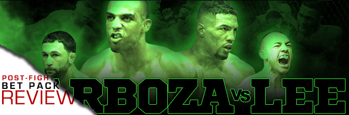 UFC FIGHT NIGHT 128: BARBOZA VS LEE- BET PACK REVIEW