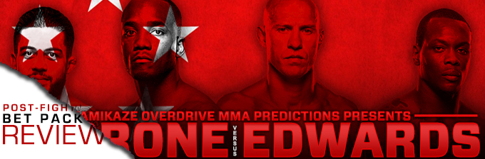 UFC FIGHT NIGHT 132: CERRONE VS EDWARDS- BET PACK REVIEW
