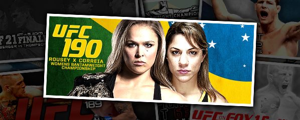 UFC 190: Rousey vs Correia- 'Lay Down, You Look Tired'