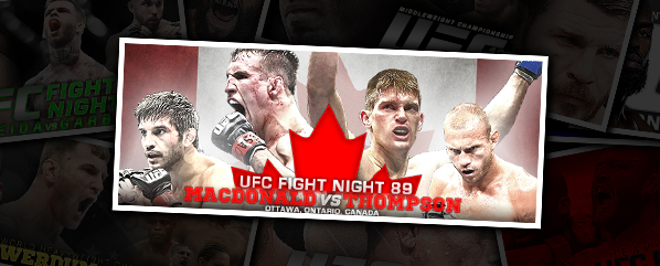 UFN 89: MACDONALD VS THOMPSON- 'WONDER NO MORE!'