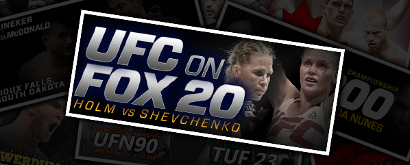UFC ON FOX 20: HOLM VS SHEVCHENKO- 'WITH A BULLET!'