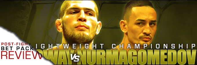 UFC 223: NURMAGOMEDOV VS IAQUINTA- BET PACK REVIEW