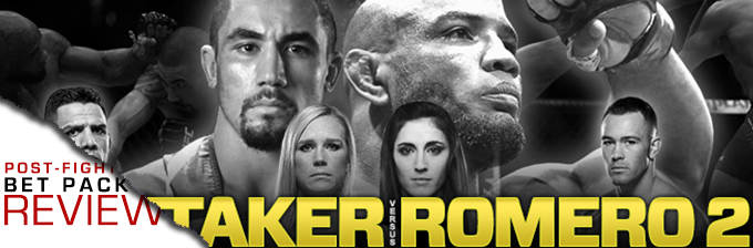 UFC 225: WHITTAKER VS ROMERO 2- BET PACK REVIEW