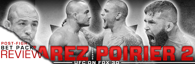 UFC ON FOX 30: ALVAREZ VS POIRIER- BET PACK REVIEW
